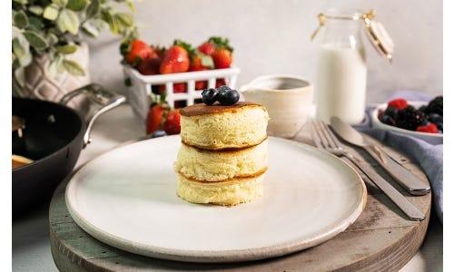 Fluffy Illinois Blueberry Pancakes