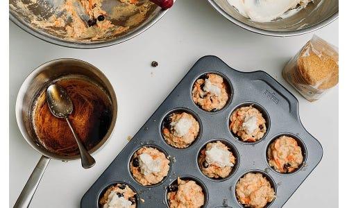 Joshua McFadden's Cream Cheese Carrot Cranberry Muffins