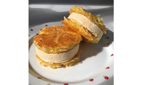 Natasha Pickowicz Corn and Coconut Semifreddo Sandwiches