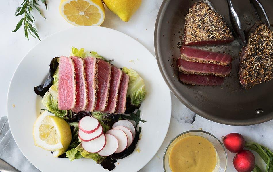 Seared Hawaiian Ahi Tuna Salad