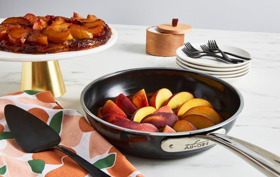 Spiced Peach Tarte Tatin